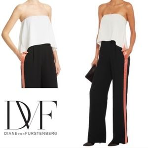 DVF Black and White Tuxedo Jumpsuit- Size 8